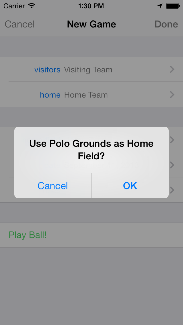 Use Polo Grounds as Home Field?